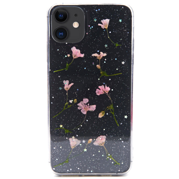Real Flowers Pink Leaves Case Iphone 11