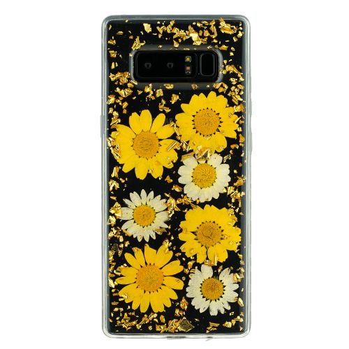 Real Flowers Sunflowers Flake Note 8 - Bling Cases.com