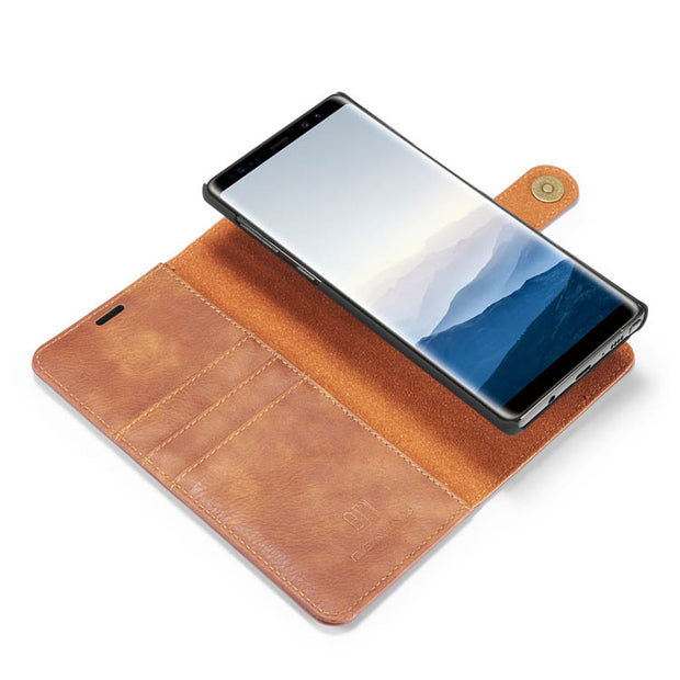 Detachable Ming Brown Wallet Samsung Note 9 - Bling Cases.com