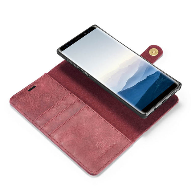 Detachable Ming Burgundy Wallet Note 8 - Bling Cases.com