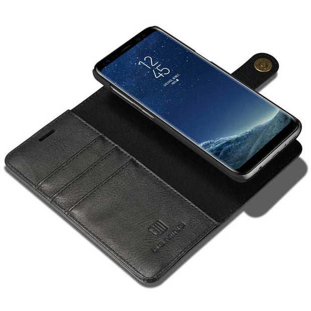 Detachable Ming Wallet Black Samsung S8 Plus - Bling Cases.com