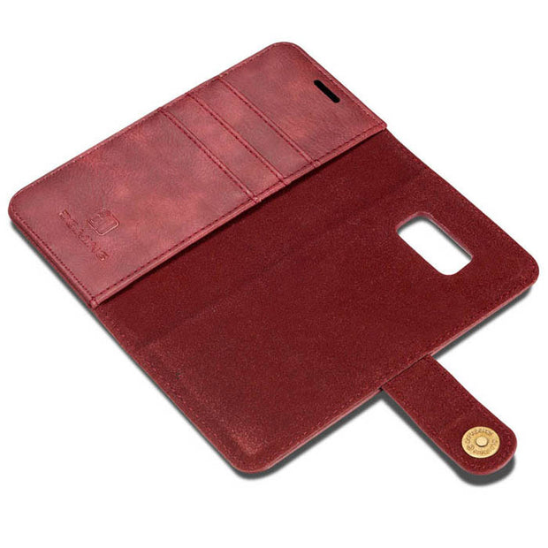 Detachable Ming Wallet Burgundy Samsung S8 Plus - Bling Cases.com