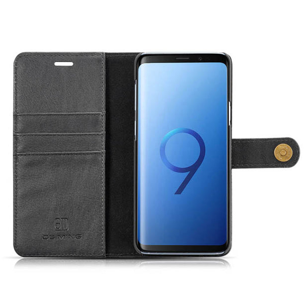 Detachable Ming Wallet Black Samsung S9 Plus - Bling Cases.com