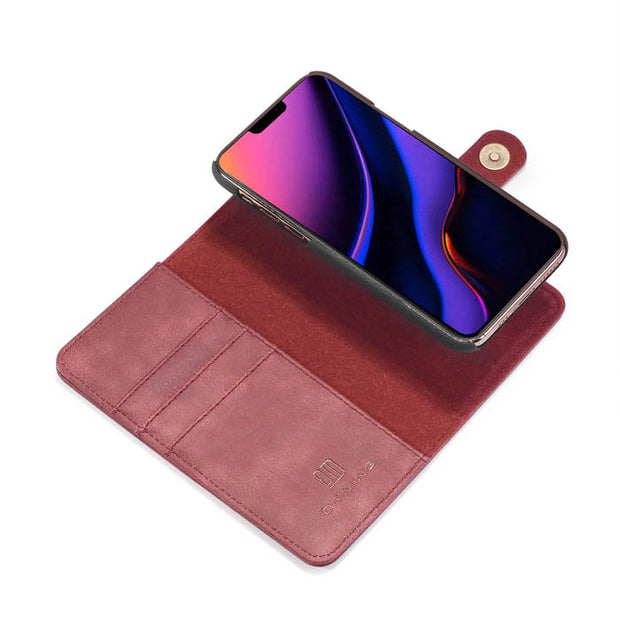 Detachable Ming Burgundy Wallet Iphone 11 Pro - Bling Cases.com