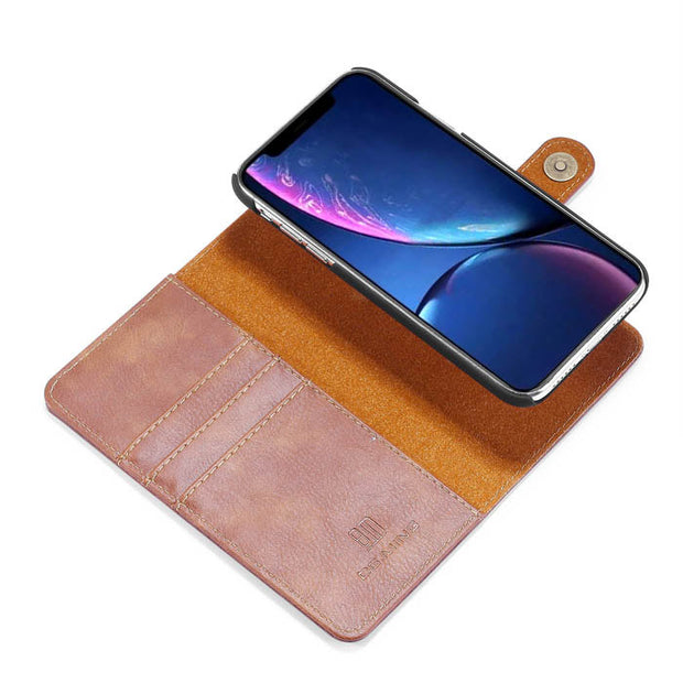 Detachable Ming Brown Wallet Iphone 11 - Bling Cases.com