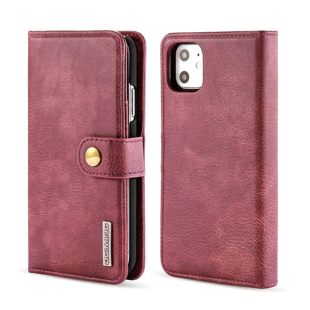 Detachable Ming Burgundy Wallet Iphone 11 - Bling Cases.com