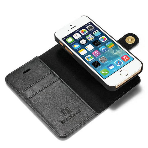 Detachable Wallet Ming Black Iphone 5/5S/5SE - Bling Cases.com