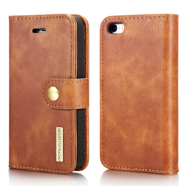 Detachable Wallet Ming Brown Iphone 5/5S/5SE - Bling Cases.com