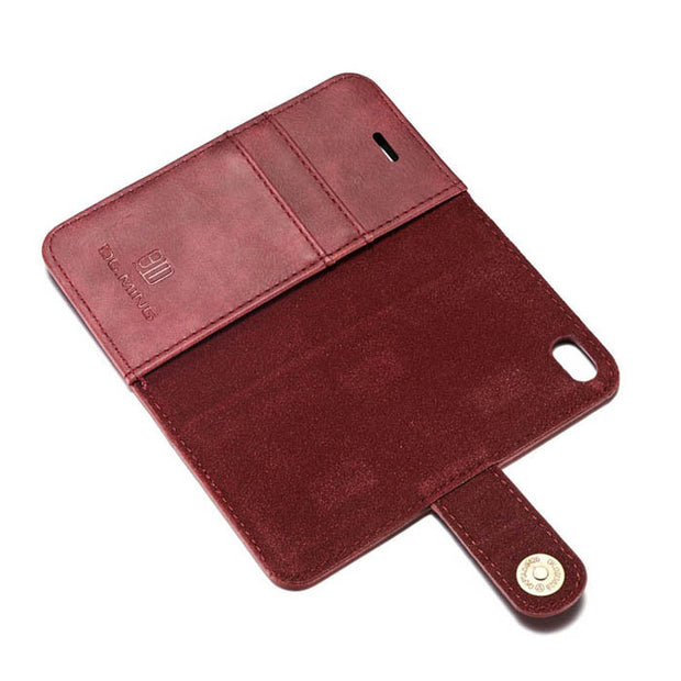 Detachable Wallet Ming Burgundy Iphone 5/5S/5SE - Bling Cases.com