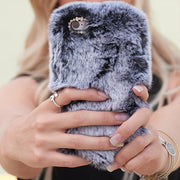 Fur Case Grey Iphone XS MAX