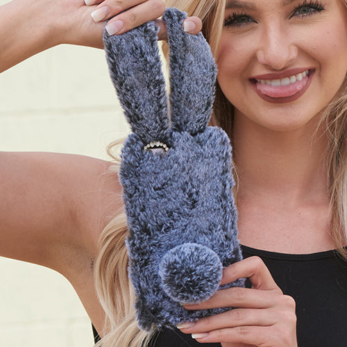 Bunny Fur Grey Case Iphone 7/8