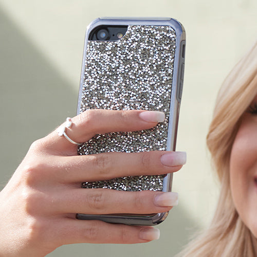Hybrid Bling Case Grey Iphone 6/7/8 Plus