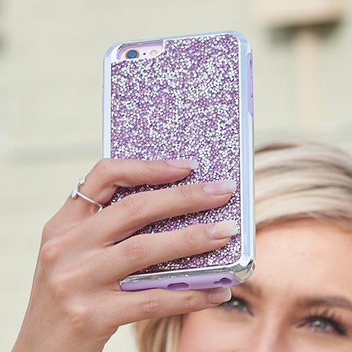 Hybrid Bling Case Purple Iphone 6/7/8 Plus