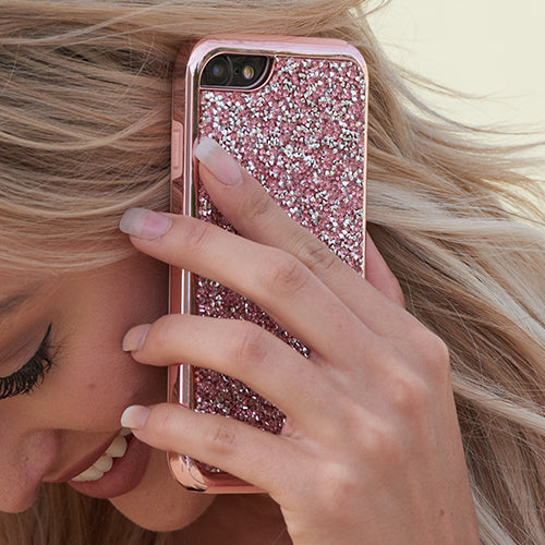 Hybrid Bling Pink Case Iphone 10/X/XS