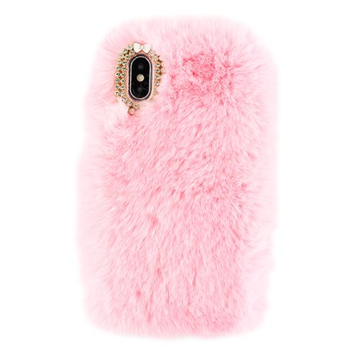 Fur Case Light Pink Iphone 10/X/XS - Bling Cases.com