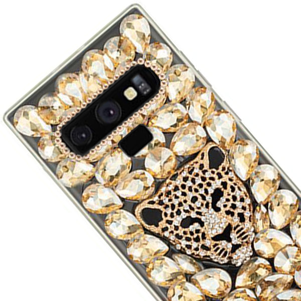 Handmade Cheetah Gold Bling Case Samsung Note 9