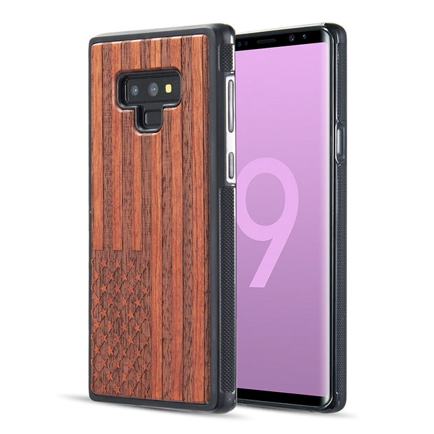 Real Wood USA Flag Samsung Note 9 - Bling Cases.com