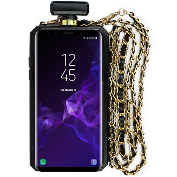 Handmade Bling Black Bottle Case S9 Plus