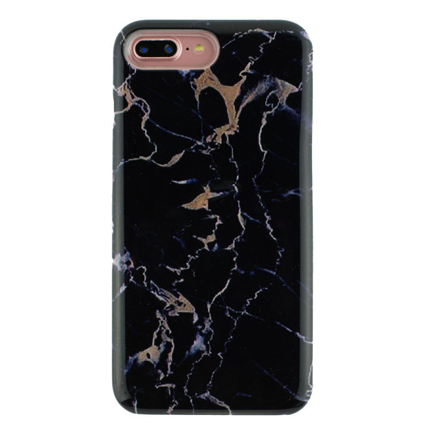 Marble Wallet Black Iphone 7/8 Plus - Bling Cases.com