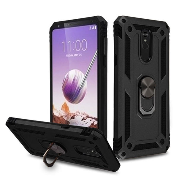 Hybrid Ring Black Lg Stylo 5 - Bling Cases.com