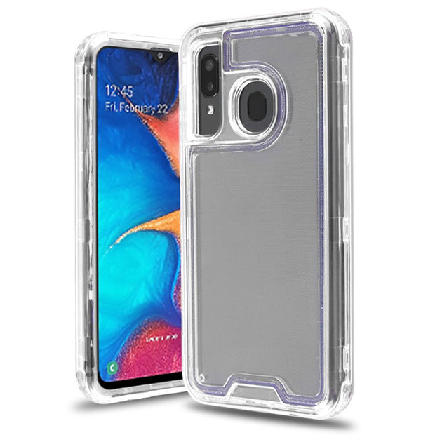 Hybrid Clear Hard Case Samsung A20/A50 - Bling Cases.com