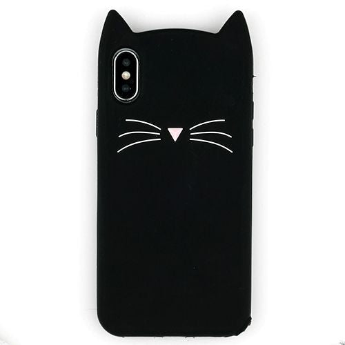 Silicone Skin Cat Black Iphone XS MAX - Bling Cases.com