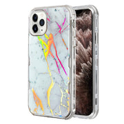 Heavy Duty Marble Silver Iphone 11 Pro Max - Bling Cases.com