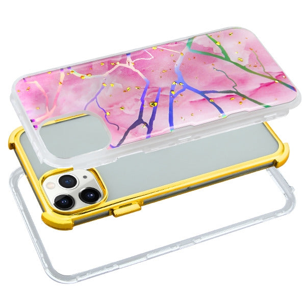 Heavy Duty Marble Pink Gold Iphone 11 Pro - Bling Cases.com