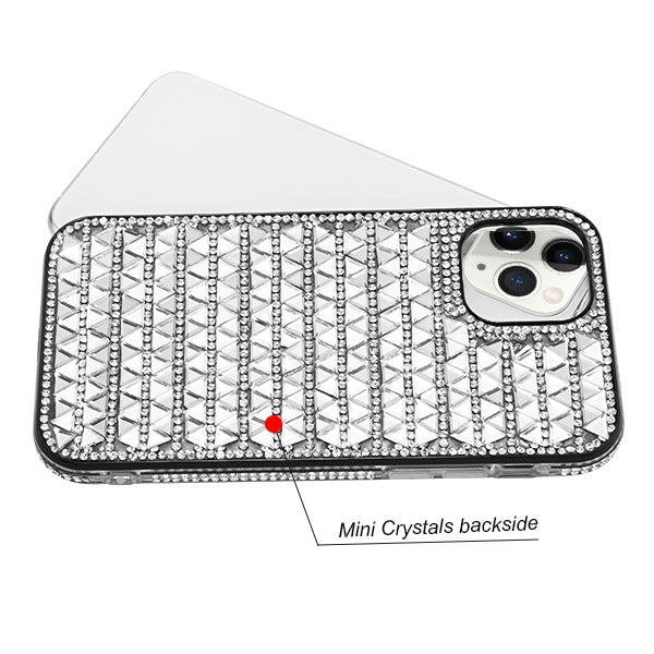Triangle Bling Silver Iphone 11 Pro - Bling Cases.com