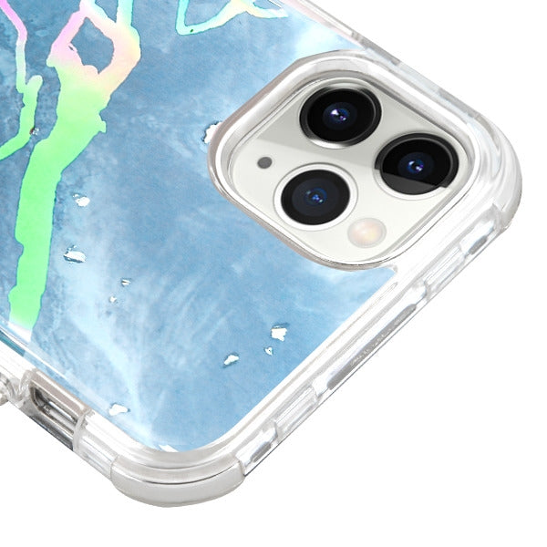 Heavy Duty Marble Blue Iphone 11 Pro - Bling Cases.com