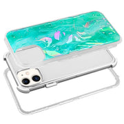 Hybrid Marble Teal Green Case Iphone 11 - Bling Cases.com