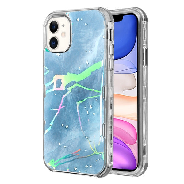 Hybrid Marble Blue Case Iphone 11 - Bling Cases.com