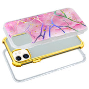Hybrid Marble Pink Gold Case Iphone 11 - Bling Cases.com