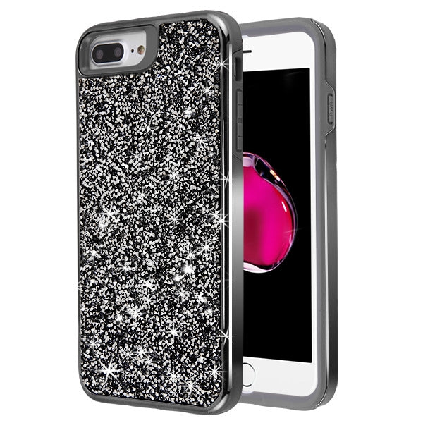 Hybrid Bling Case Grey Iphone 6/7/8 Plus - Bling Cases.com