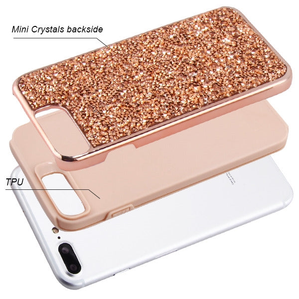 Hybrid Bling Case Rose Gold Iphone 6/7/8 Plus - Bling Cases.com