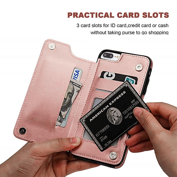 Book Card Rose Gold Case Iphone 6/7/8 Plus - Bling Cases.com