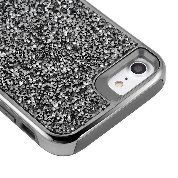 Hybrid Bling Case Grey Iphone SE 2020 - Bling Cases.com
