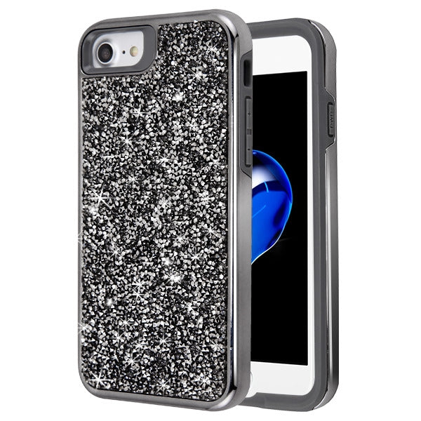 Hybrid Bling Case Grey Iphone 6/7/8 - Bling Cases.com