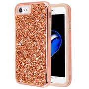 Hybrid Bling Case Rose Gold Iphone 6/7/8 - Bling Cases.com