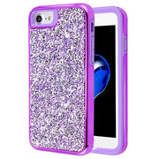 Hybrid Bling Case Purple Iphone 6/7/8 - Bling Cases.com