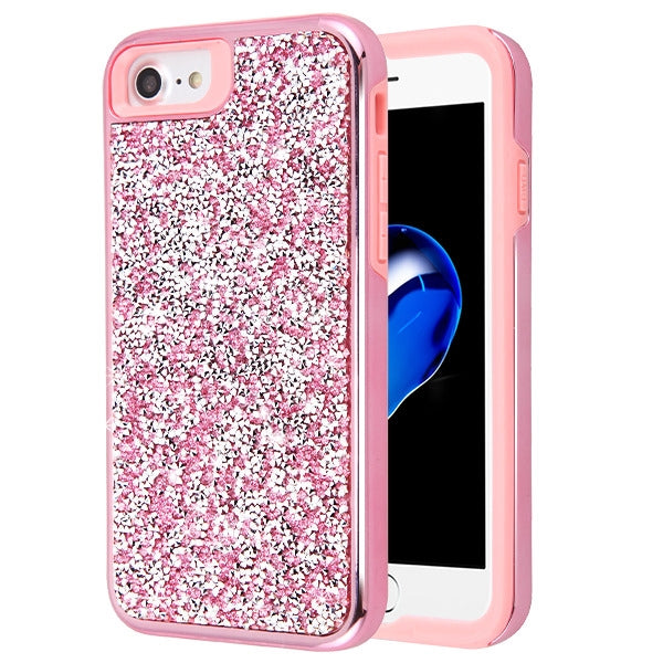 Hybrid Bling Case Pink Iphone 6/7/8 - Bling Cases.com