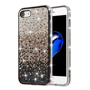 Waterfall Bling Black Case Iphone SE 2020 - Bling Cases.com