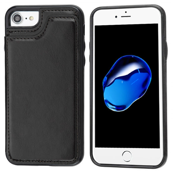 Book Card Black Case Iphone 6/7/8 - Bling Cases.com