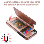 Book Card Rose Gold Case Iphone 6/7/8 - Bling Cases.com