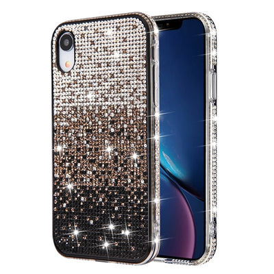 Waterfall Bling Black Case Iphone XR - Bling Cases.com
