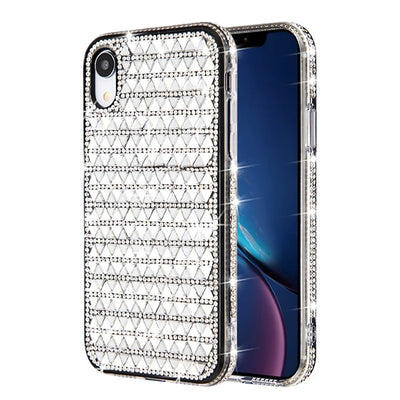 Triangle Bling Silver Case Iphone XR - Bling Cases.com