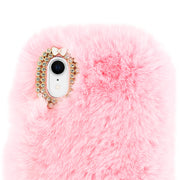 Fur Case Light Pink Iphone XR