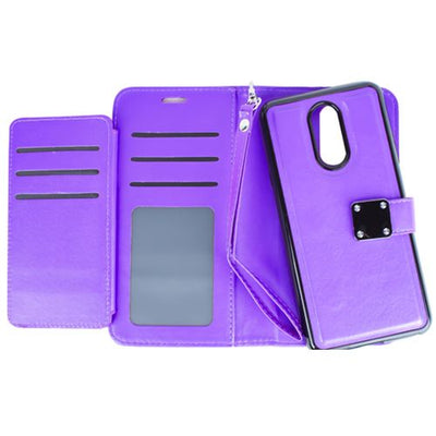 Detachable Wallet Purple Lg Stylo 4 - Bling Cases.com