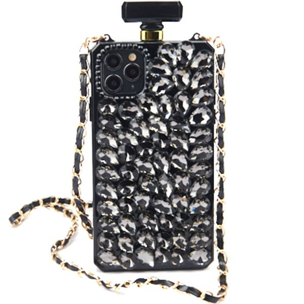 Handmade Bling Black Bottle Case Iphone 11 Pro Max