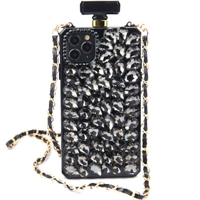 Handmade Bling Black Bottle Case Iphone 11 Pro